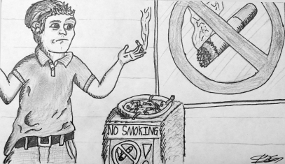 Smoking Cartoon Dustin Gordon